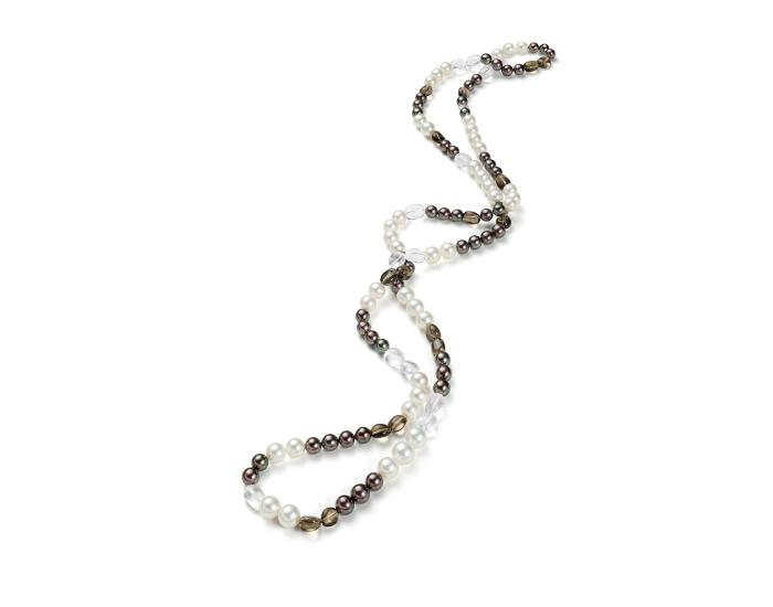 Kombinationskette aus Perlen und Edelsteinen